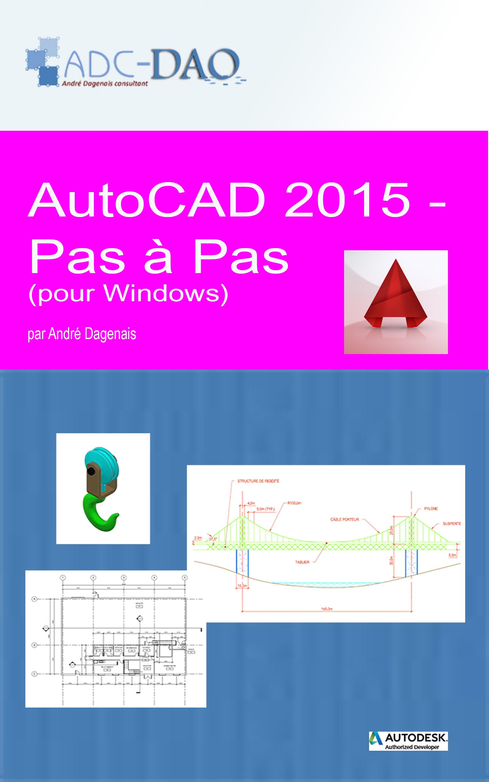 AutoCAD 2015 - Pas à pas (Couverture)