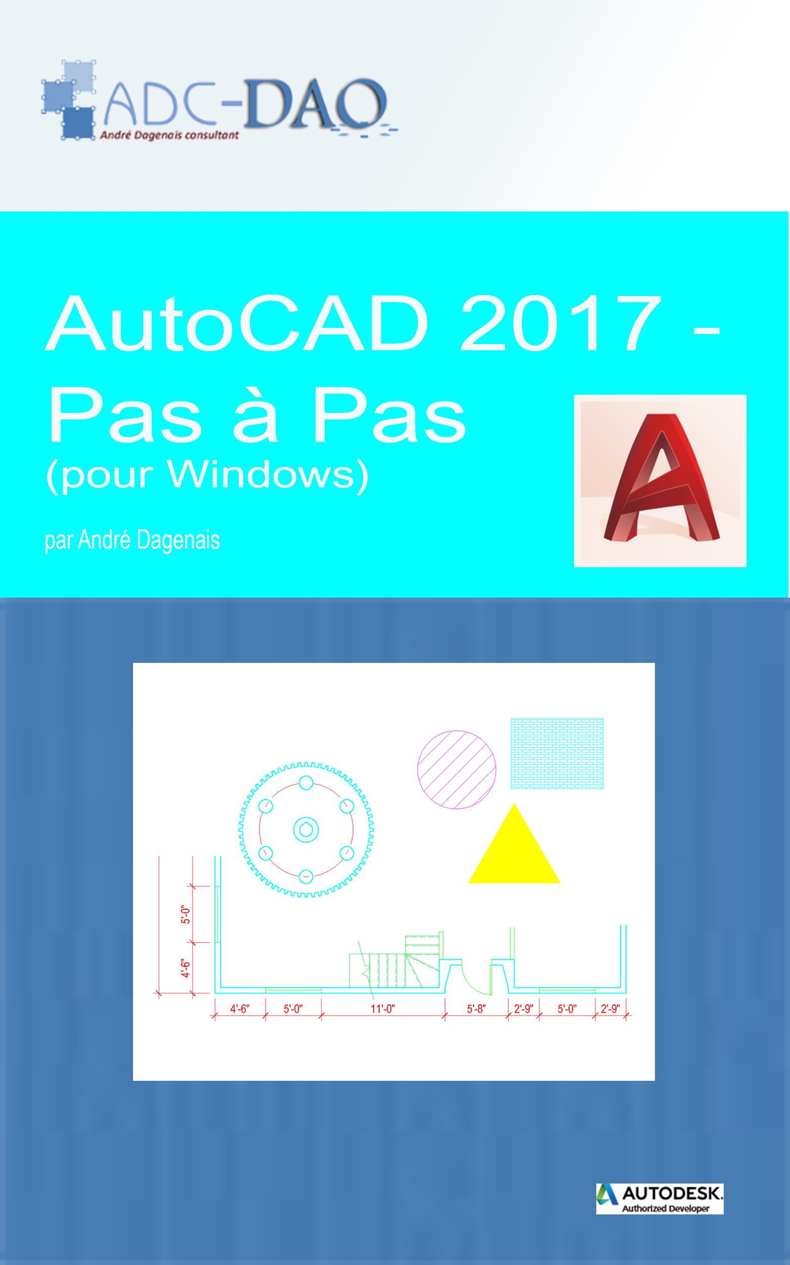 AutoCAD 2017 - Pas à pas (Couverture)